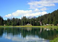 Nature lac de montagne (haute savoie)
