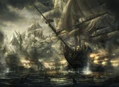 Art - Painting Que de bateaux, de bataille(s) .. !