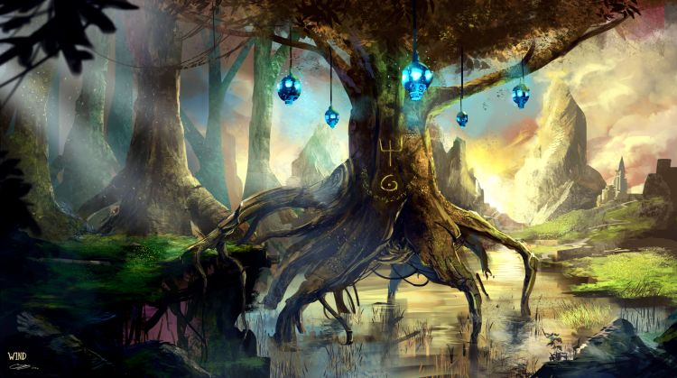 Wallpapers Fantasy and Science Fiction Fantasy Landscapes Arbre