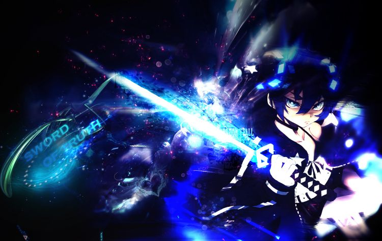Fonds d'écran Manga Black Rock Shooter sword of truth