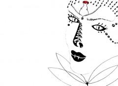 Art - Crayon Femme mystérieuse....
