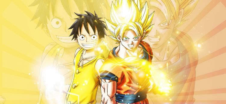 Fonds d'écran Manga Dragon Ball Z SonGoku x Luffy