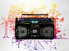 Digital Art Ghetto Blaster