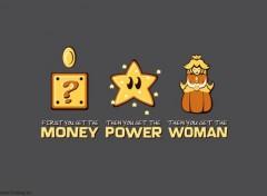Video Games Mario : money power woman