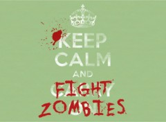 Fantasy and Science Fiction Keep calm and fight zombies