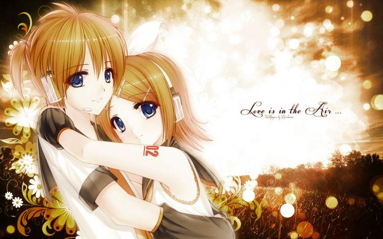 Fonds d'écran Manga Vocaloïds Love is in the Air