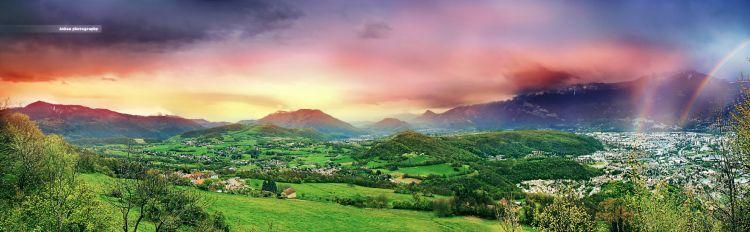Fonds d'écran Nature Paysages La vallée aux couleurs du temps