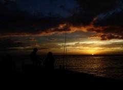 Nature coucher de soleil à la Martinique