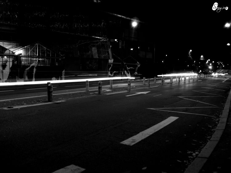 Fonds d'écran Constructions et architecture Routes - Autoroutes Vue sur Nantes, le temps d'un soir