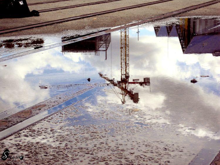 Wallpapers Constructions and architecture Industries Reflet du passé
