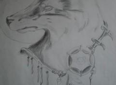 Art - Crayon loup indien