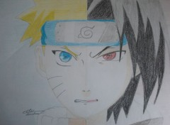 Art - Pencil Naruto VS Sasuké