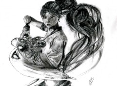 Art - Pencil Guerri�re