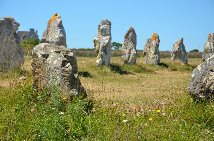 Fonds d'écran Voyages : Europe France > Bretagne L'alignement de Menhir à Lagatjar près de Camaret