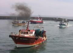 Bateaux les bateaux de peche rentre au port du guilvinec