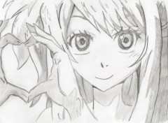 Art - Pencil Lucy Heart