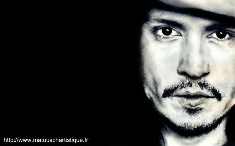 Fonds d'écran Célébrités Homme Johnny Depp dessin de Johnny Depp