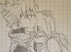 Art - Pencil natsu et lucy