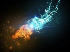 Digital Art Fire VS Water