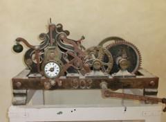Objets mecanime d une ancienne horloge d eglise