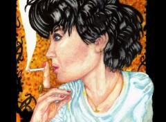 Art - Peinture Ioana the Smoker