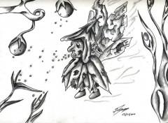 Art - Pencil creatures fantastique indefinit