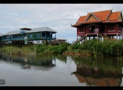 Voyages : Asie Village Flottant de Kompong Pluck (Cambodge).