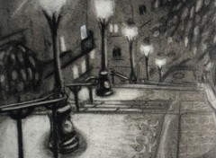 Art - Crayon Paris la nuit