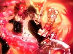 Manga REBORN! Tsunayoshi Sawada and Enma Kozato
