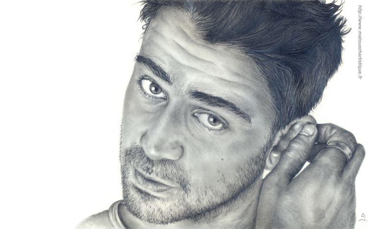 Wallpapers Art - Pencil Portraits Colin Farell