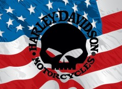 Motos Harley Davidson & American Flag