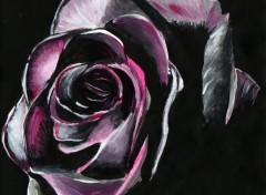 Art - Peinture Rose noire