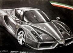 Art - Pencil Ferrari Enzo