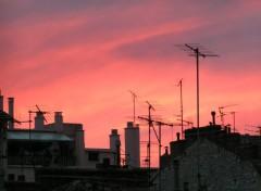 Constructions et architecture coucher de soleil