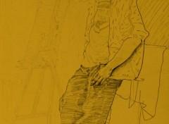 Art - Crayon Standing pose