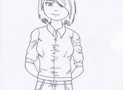 Art - Pencil un portrait de ma fille version manga...ou presque!