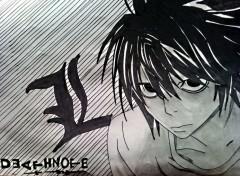 Art - Crayon L de death Note