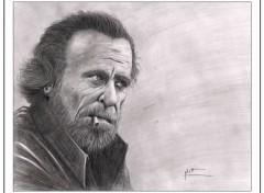 "Art - Pencil ""Charles Bukowski"""