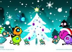 Digital Art Mocos Adventures - nuit de Noël