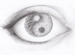 Art - Crayon Oeil yin et yang