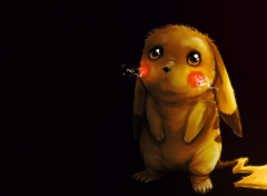 Manga Pikachu tout triste