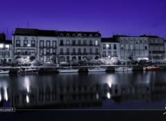 Bateaux Le vieux Agde by night