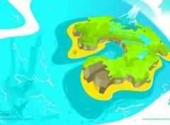 Digital Art Mocos Adventures - Ile de Mocos