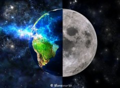Digital Art Le terre est Lune