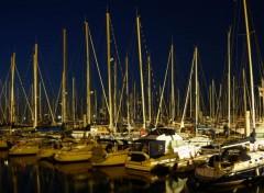 Boats Crépuscule sur le port de Piriac-sur-mer