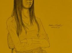 Art - Crayon School Girl