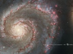 Space La galaxie Tourbillon M51 et galaxie compagnon