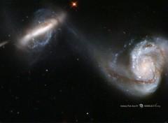 Espace Paire de galaxie arp 87