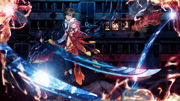 Fonds d'écran Manga Guilty Crown Inori & Chu