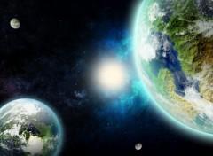 Art - Numérique 2 planètes, un soleil...